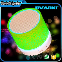 New Products 2017 Portable Music Sound Box Mini Wireless Speaker Bluetooth With LED Light For Phone PC