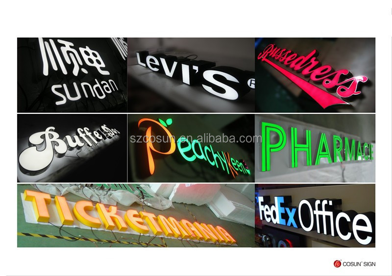 Custom made led signs,stainless steel metal letter sign