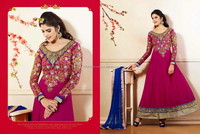New Designer Traditional Beautiful Party Wear Salwar Kameez Women's Party Long Anarkali Dress R1341