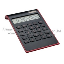 2018 hot solar cell desktop calculator/10 digit corporate gift calculator/plastic keys black dual power digital calculator