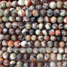 Natural multi colors jade round beads,semi precious stone beads for jewelry making (AB1485)