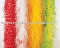 Factory wholesale cheap fashion long sexy mix colours colourful decorative fluffy curly marabou ostrich plumes feather boa