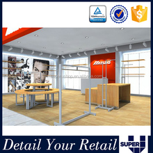 Clothing shop fitting,globe display stands,stainless steel hanging rail