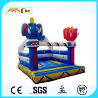 CILE 2015 Popular Toy Elephant Inflatable Boxing Ring Castle Jumping Bed for Adult and Child