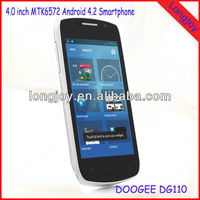 Cheap Android 4.2 GPS Wifi Mtk6572 4 Inch 3g Mobile Phone Doogee DG110