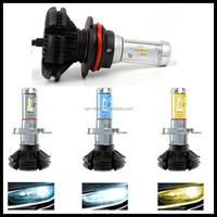9004 hi lo beam X3 LED headlight for car and motorcycles 50W fanless Car LED head light bulbs 6500K 3000K 8000K