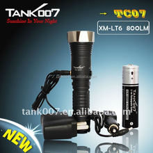 18650 1000lumens LED solar energy torch light for outdoor emergency TANK007 TC07