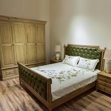 Best Quality Low Price solid wood upholstered bed