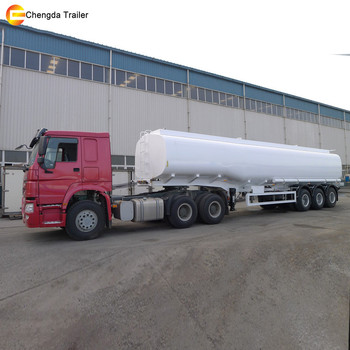 Tri axle 45000L-50000L tank semi trailer/oil tanker trailers/3 axle fuel tanker trailer