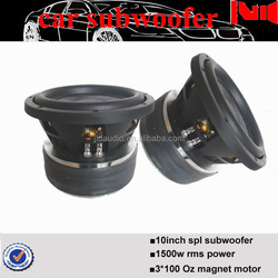 high quality 10inch pro audio subwoofer with 300 Oz big magnet motor and rms 1500w power spl subwoofer