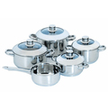 capsuled bottom stainless steel cookware set