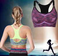 Women sports bra shockproof running fitness yoga professional air sports top bra vest without rims