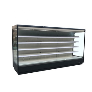 Supermarket Remote Refrigerated Cabinet, Multideck Open Cooler for Vegetable & Fruits