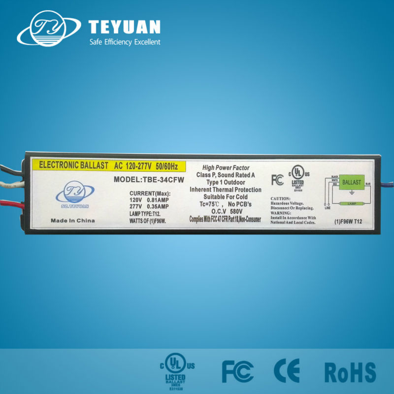 Electronic Ballast 96W for T12 Fluorescent Lamp
