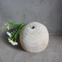Home or garden decoration wooden flower vase natural rustic wood vase stand