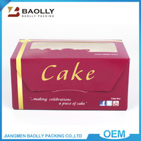 High quality decorative gift packaging custom folding paper cake box for wedding