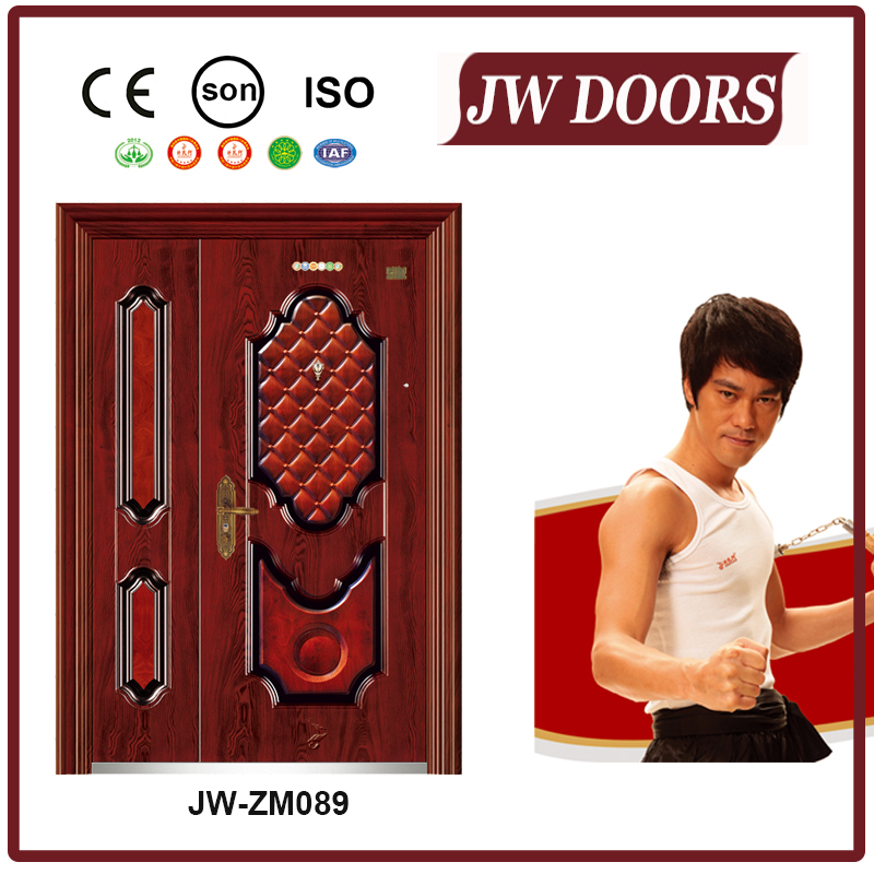 mother son door,quality manufacturer steel security door,unequal double door