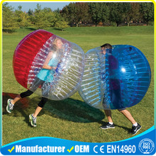 colorful inflatable body bubble ball for soccer