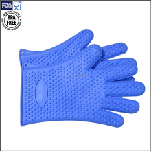 Grill BBQ Microwave Oven Functional Use Fancy Waterproof Silicone Hand Gloves