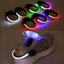 Hot LED Luminous Shoe Clip Light Night Safety Warning LED Bright Flash Light For Running Cycling