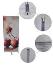 Hot selling Roll Up Horizontal Banner Stand Size Cassette