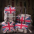 Casual Trendy Shoulder Flag printed canvas and PU Rucksack shoulder Bags Guangzhou manufacturer