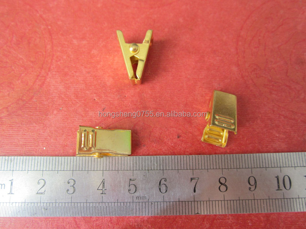 Manufacturer Supply Gold Color Small Metal Curtain Clip