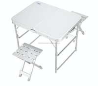 Portable camping folding table and chair set