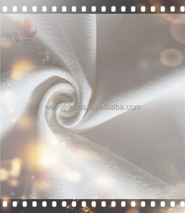 Natural crepe 150d double layer imitated silk fabric for latest model skirt