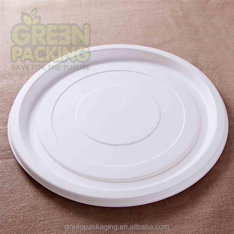 Various sizes biodegradable bagasse disposable pizza pan