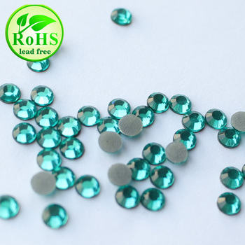 G0813  Aquamarine SS16 4mm 200gross Factory Supply HotFix Lead Free Rhinestone For HotFix Transfer Motif