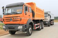NORTH BENZ V3 6X4 290hp 336hp 380HP 10 WHEELS EURO2 DUMP BEIBEN TRUCK truck load of sand