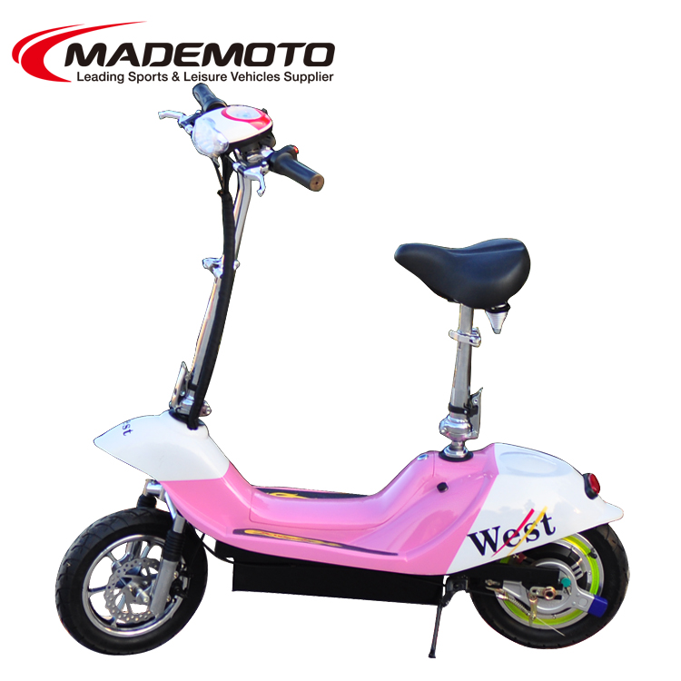 Hub Motor kiddie manual ride scooter with roof two wheel smart balance pink electric scooter