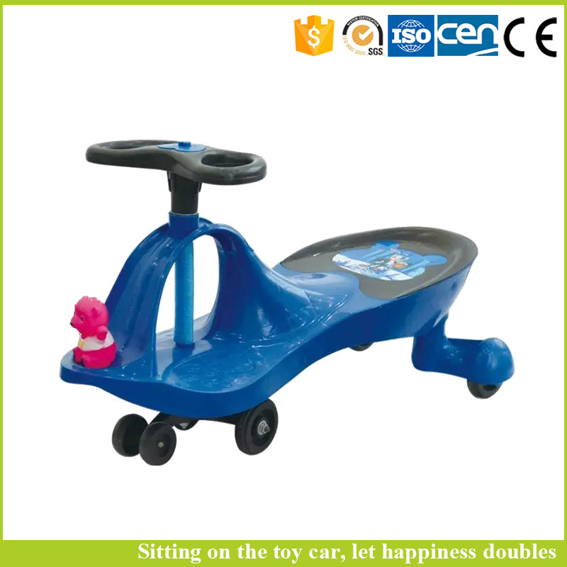 Low price china factory toys swing car parts blue baby walker on foot