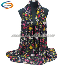 Wholesale China factory high quality floral printing cheap portuguese scarf