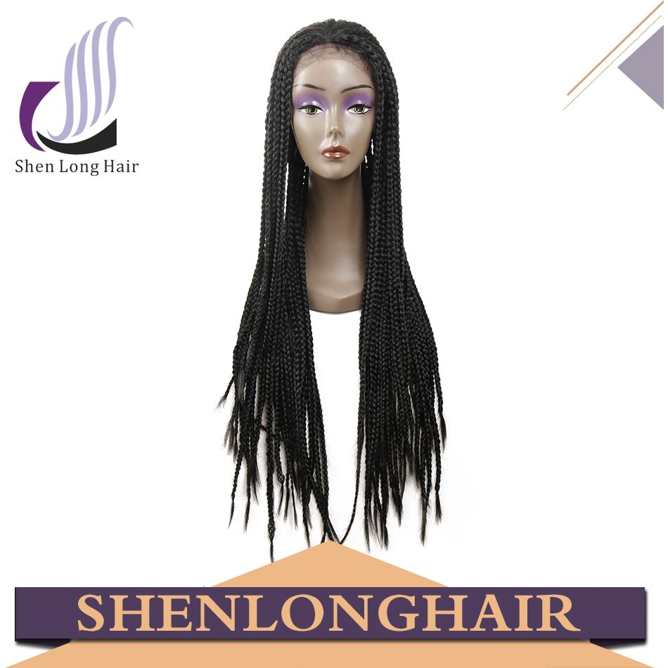 Fashionable Cheap Synthetic Lace Front Wig with Baby Hair African American Braided Wigs