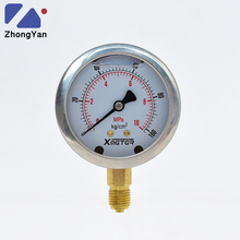 ZhongYan 10 MPa Oil Liquid Filled Nitrogen Pressure Gauge