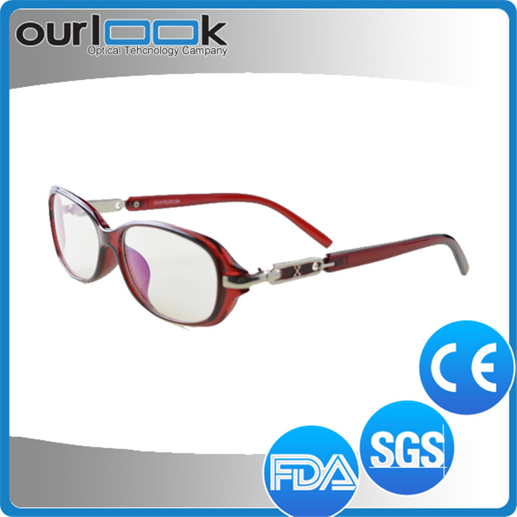 High Quality Fashion Model Black Color Metal Ornament TR90 China Optical Frame Stores
