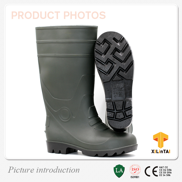 heavy duty PVC work boots