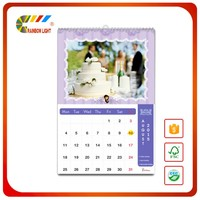 Wholesale custom printed chinese 3 fold digital monthly wall calendar