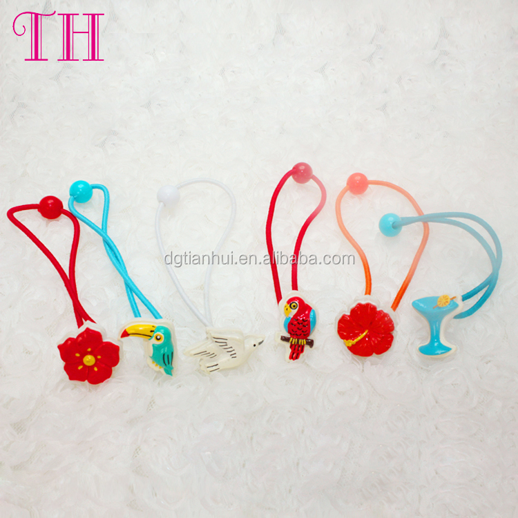 Hair accessories cheap resin cute animal shape coil plastic baby hair band for girl