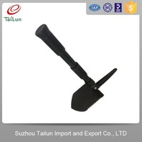 different types of folding camping sport utility shovel with saw