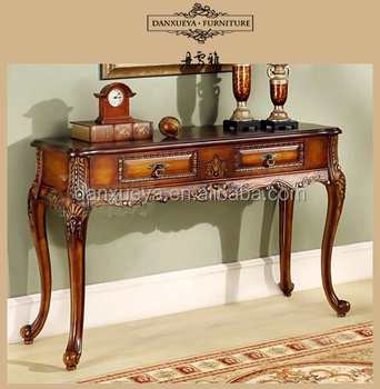 Antique Wooden Carved Console Table