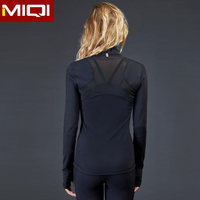 Girls ladies plain color custom nylon and mesh jackets wholsale fitness wear active wear