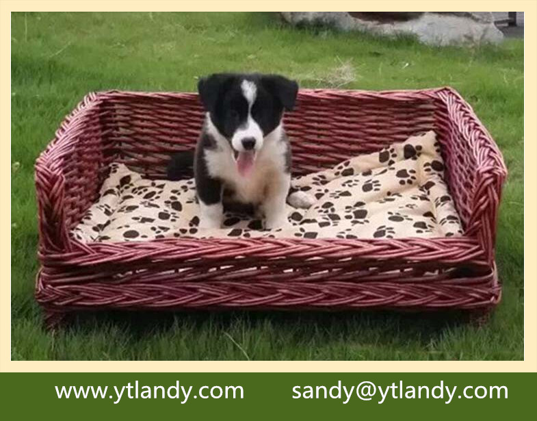 Luxury Large Wicker Dog Bed