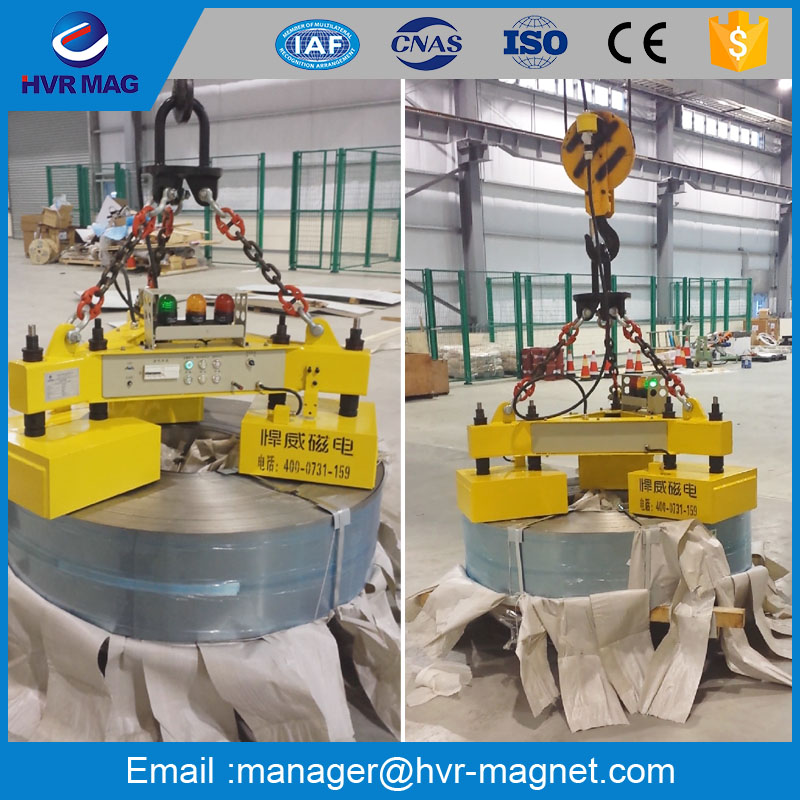 Electric lifting magnetic lifter / steel coil lifting equipment / magnet lift for lifting steel coil