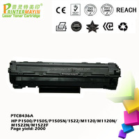 Free Sample CB436A Toner Cartridges for M-1120W FOR USE IN HP P1500/P1505/P1505N/1522/M1120/M1120N/M1522N/M1522F (PTCB436A)