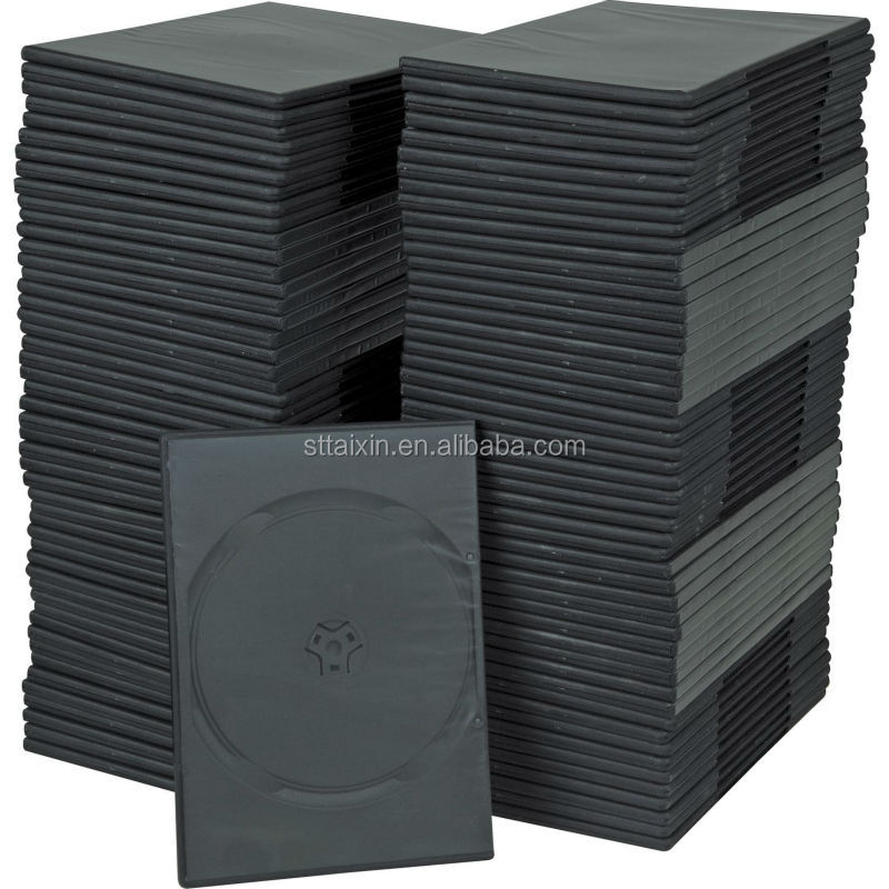 slim 7mm black single/double unique dvd cases