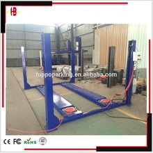 Four post wheel alignment car repair lifts with 4500kg loading capacity