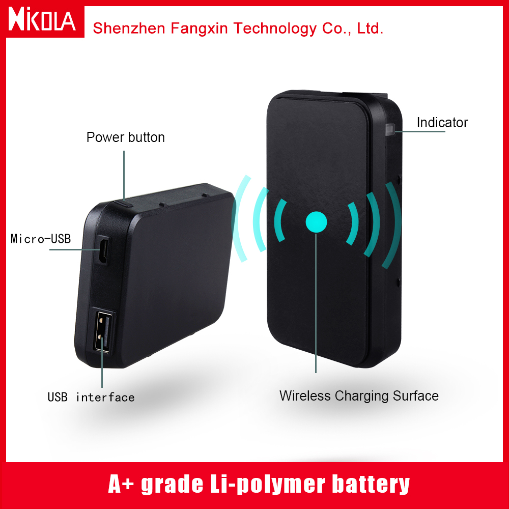2017 New arrival qi wireless charging power bank with mobile phone holder